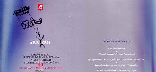 Zaproszenie na Inaugurację Roku Akademickiego Akademii im. Jana Długosza w Częstochowie