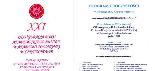 Inauguracja Roku Akademickiego w Akademii Polonijnej w Częstochowie